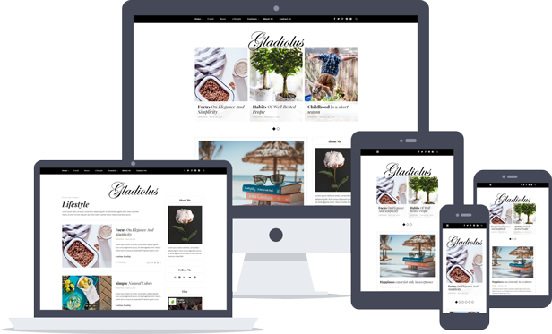 Gladiolus - A Responsive WordPress Blog Theme